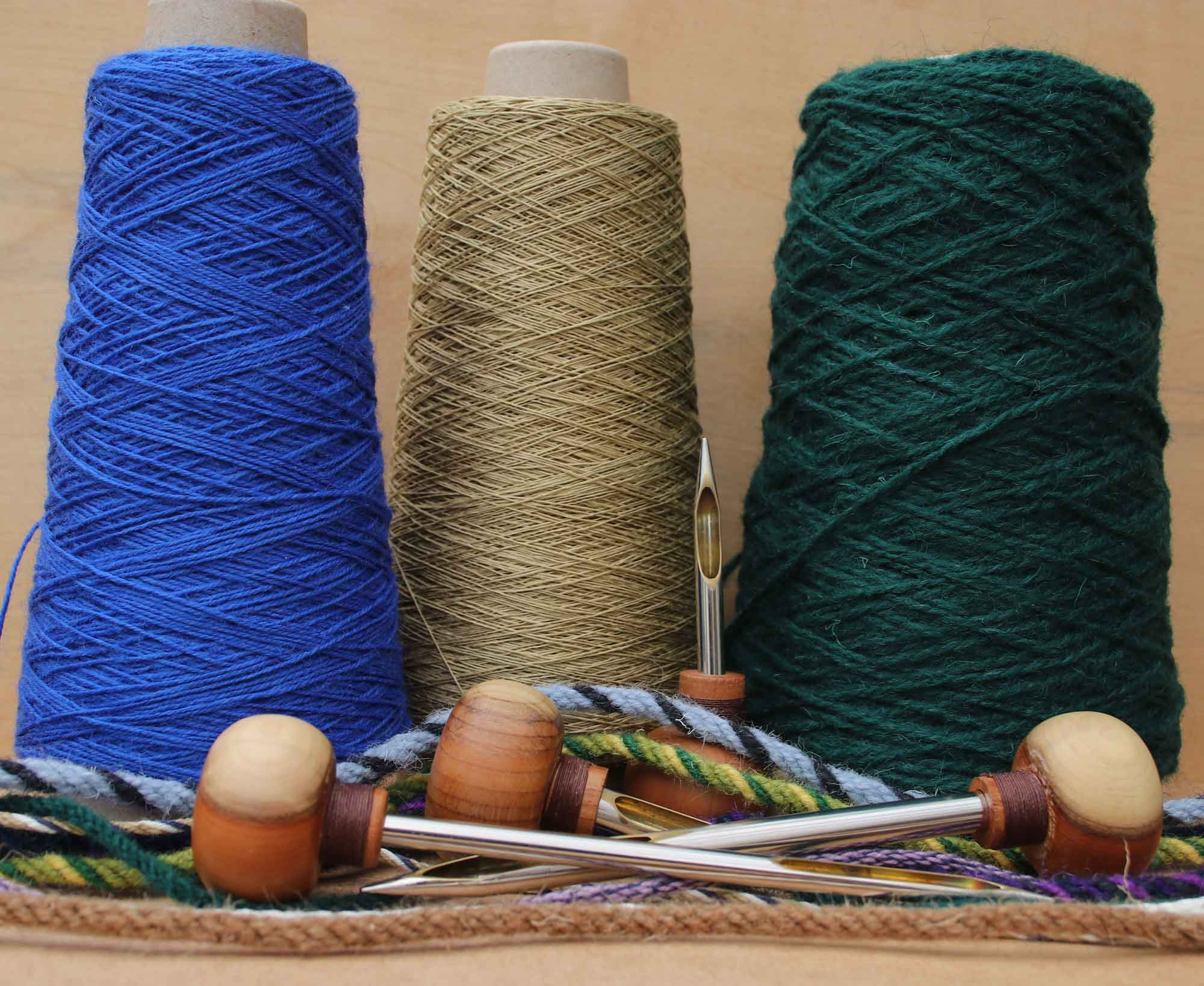 Yarn and tools for ply-split braiding